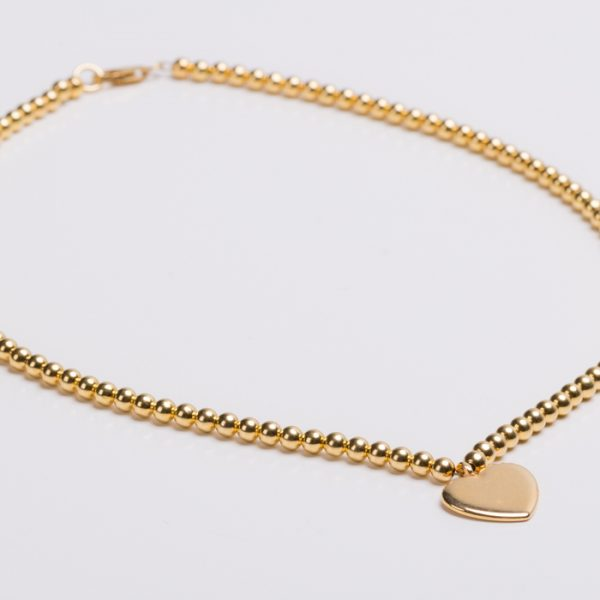 Product Photography – Necklace Gold Heart